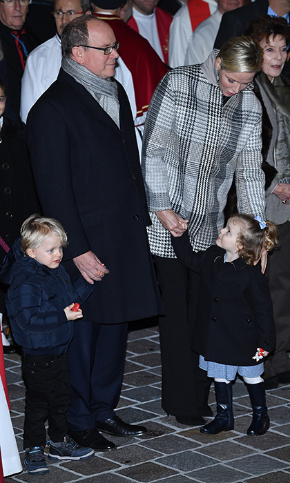 The Monaco royal family stepped out on Jan. 26 to attend the ceremony of Sainte-Devote. The twins looked absolutely adorable, as per usual!