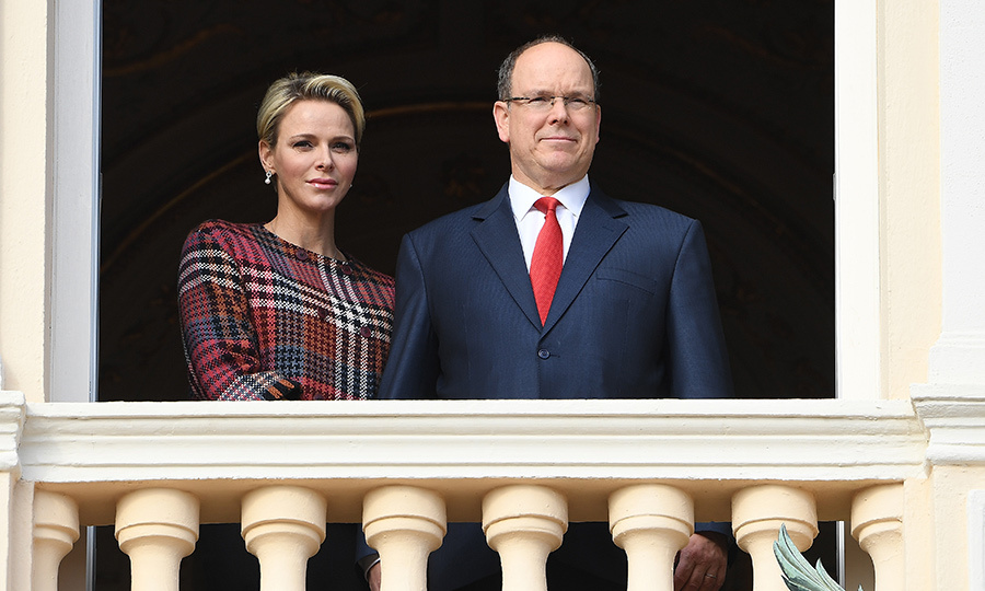We love seeing these two together. Princess Charlene and her love Prince Albert II stood in their balcony, watching the celebration of the Sainte-Devote.