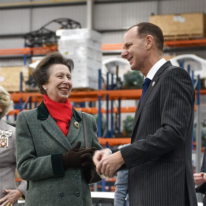 "Princess Anne was all smiles while paying a visit to the Ginetta factory. The photo was shared on the Royal Family's Instagram, with the caption, ""HRH helped @ginettacars celebrate 60 years of manufacturing cars in Britain, sampled some cheese at local cheesemonger @cryertandstott, toured a factory and opened Leeds College of Building's new campus.""