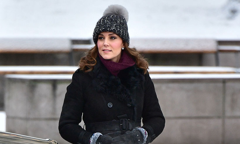 8b0aa77eaf7 Kate s tour toque  The palace responds to reports that it s real fur ...