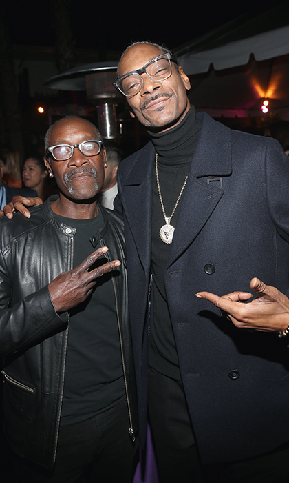 Don Cheadle and Snoop Dogg stopped for a photo while at the <em>Black Panther</em> premiere after party.