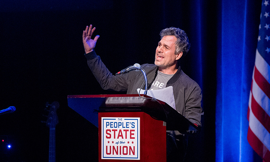 Mark Ruffalo was one of the speakers at the People's State of the Union town hall in New York City on Jan. 29. This was an event put on by public figures to counter Trump's State of the Union.