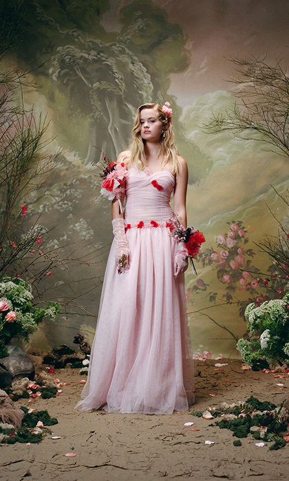 Ava Philippe, Reese Witherspoon's daughter, made her modelling debut in Rodarte's new portrait campaign. The 18-year-old looked ethereal in a baby pink gown adorned with red roses.