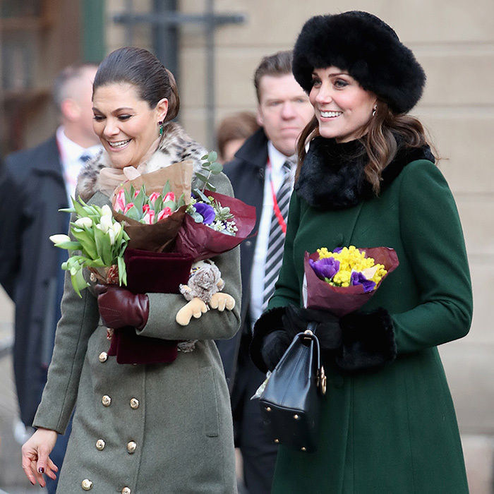 Crown Princess Victoria and Duchess Kate haven't spent time together since the latter's royal wedding in 2011. One thing's for sure - the duo makes a stylish pair!