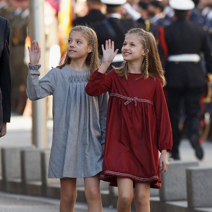 <p>Princess Sofia and Princess Leonor were in sync as they stylishly arrived to the opening ceremony of the 12th Legislature at the Spanish Parliament in Madrid on November 17, 2016.</p>