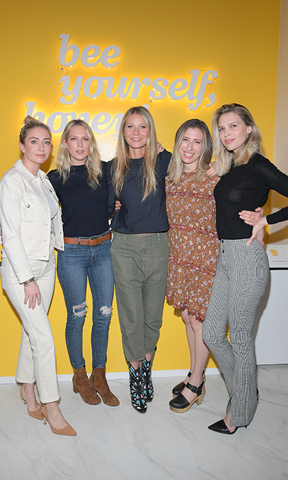 Founder of Bumble Whitney Wolfe Herd, Erin Foster, Gwyneth Paltrow, Shira Lenchewski and Sara Foster stepped out for the Bumble Hive LA debut on Jan. 31.