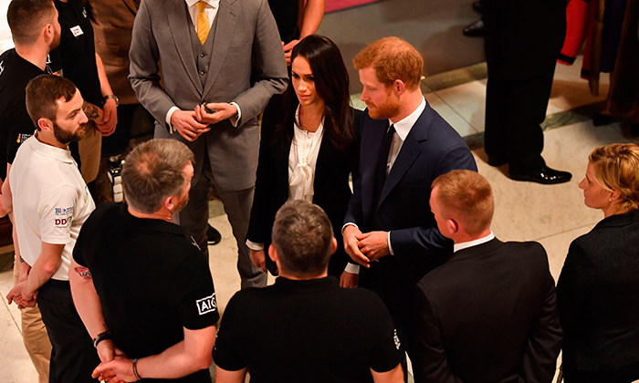 Meghan and Harry chatted and joked with attendees on their way into the Endeavour Fund Awards, where they were both presenting some of the evening's top honours. The prince and the former <em>Suits</em> star both made speeches during the ceremony.