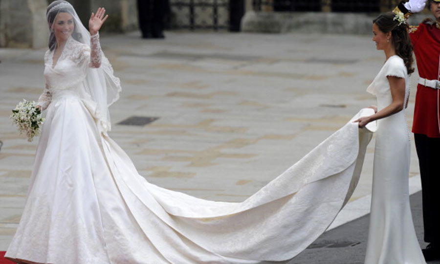 Topping the list is Kate's stunning wedding dress, designed by Sarah Burton, creative director for Alexander McQueen. The Duchess looks like a vision in this modern take on the classic wedding dress.