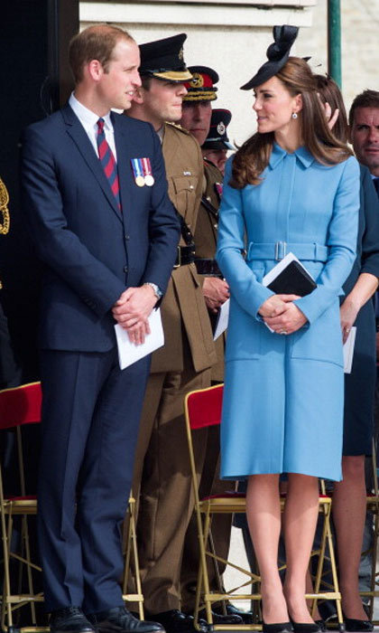 Kate's style seems to be maturing as seen with this Alexander McQueen cerulean coat.