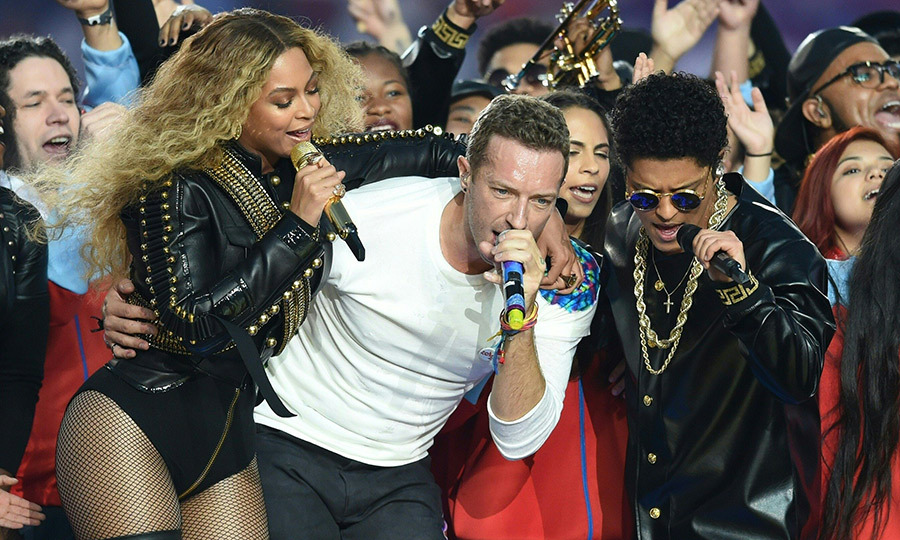 "Beyoncé, Chris Martin and Bruno Mars gave an epic performance at Super Bowl 50 in 2016, where the Coldplay singer kicked things off before Mark Ronson and Bruno Mars kicked things into high gear with ""Uptown Funk."" But the moment everyone was waiting for came when a bullet-clad Beyonce got into ""Formation"" in a politically driven moment in support of Black Lives Matter.