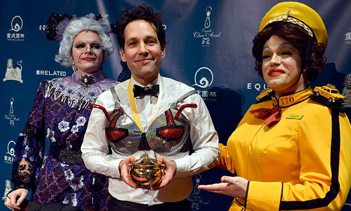Paul Rudd accepted his Man of the Year award from Harvard's cross-dressing Hasty Pudding Theatricals on Feb. 2. This year the society announced a monumental change to allow women in the burlesque group for the first time in its more-than-100-year existence.