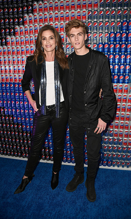 Model genes run in the family! Cindy Crawford and her equally runway-ready son Presley Gerber were ready to celebrate at Pepsi Generations Live Pop-Up on Feb. 2 in Minneapolis.