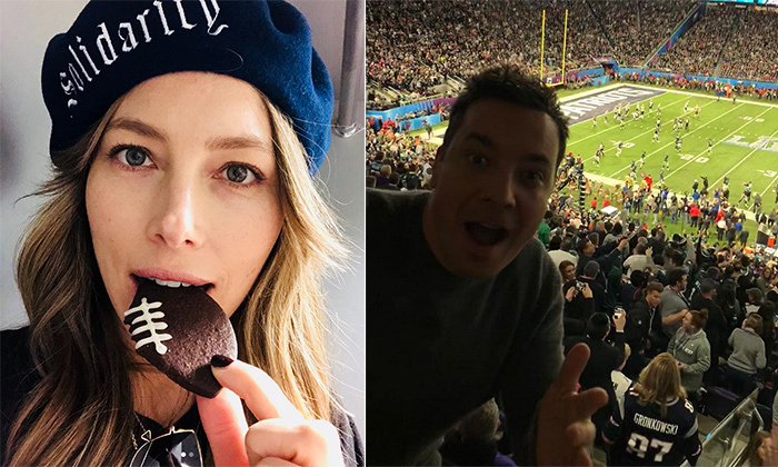 2d15e847156 Super Bowl 2018  Stars support their teams (and Justin Timberlake!) on  Instagram
