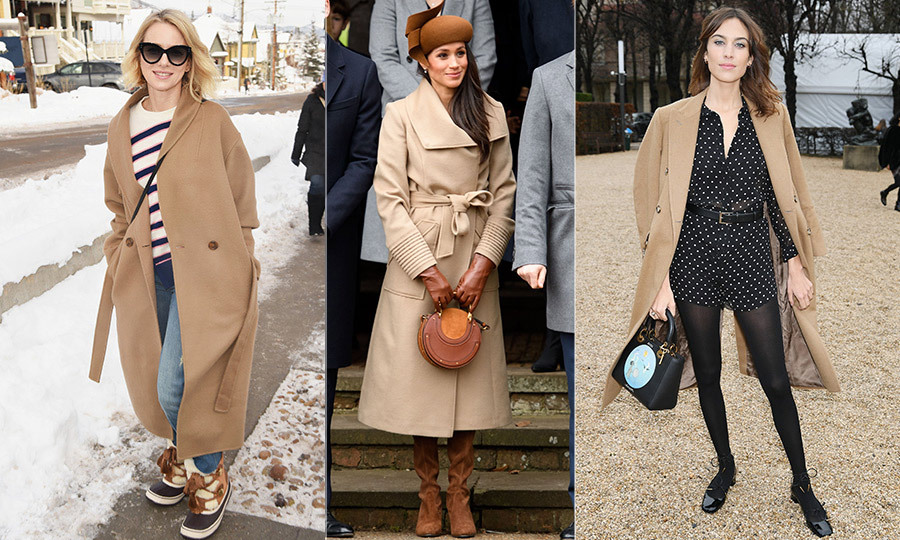 "<p>The weather outside may be frightful, but thankfully the stylish camel coat has come to the rescue. Both chic and timeless, it's been spotted everywhere from Paris Couture Fashion Week to the Sundance Film Festival on stars like <a href=""/tags/0/naomi-watts""><strong>Naomi Watts</strong></a> and <a href=""/tags/0/alexa-chung""><strong>Alexa Chung</strong></a>. <a href=""/tags/0/meghan-markle""><strong>Meghan Markle</strong></a> also embraced the sandy hue with a belted wrap coat from Canadian outerwear label Sentaler. With a variety of silhouettes and textures to wrap up in (think everything from structured peacoats to '70s-style shearling), it's the season's go-to staple.</p>"