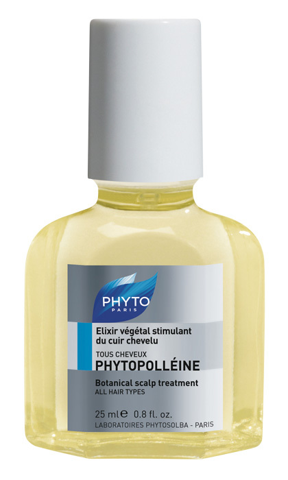 <p>Leave this blend of essential oils and corn germ oil on your scalp for 20 minutes and rinse. For a more intensive treatment, use as an overnight hair mask.</p>