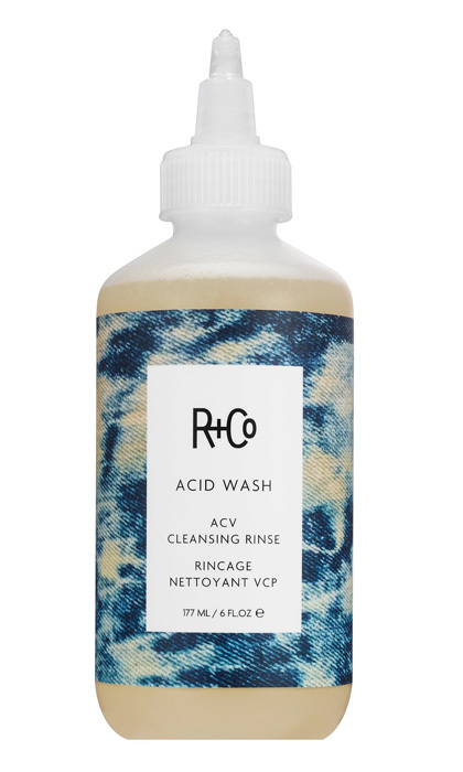 <p>Remove excess buildup and add shine with this apple cider vinegar rinse. Massage into hair for one to three minutes and rinse thoroughly.</p>