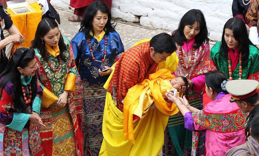 "<p>In April, the Prince was given his official name, Jigme Namgyel Wangchuck, during a spectacular official naming ceremony. Speaking to the people of Bhutan, his father said: ""Jigme means fearless. It symbolizes great courage to overcome any challenge that he may confront in the future as he serves our country.""</p>