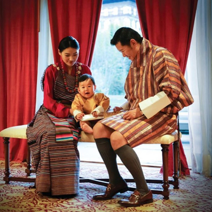 "<p>The Dragon King shared a photo of himself, wife and son from the royals' December calendar. Attached to the picture, a message read: ""We commemorate His Majesty's 10th year of reign with this wonderful photograph of our King, Queen, and Gyalsey. May such happiness and peace forever prevail in Bhutan.""</p>