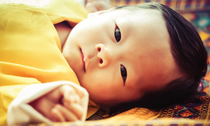 <p>Look at that hair! A photo released to mark Prince Jigme turning three months old revealed just how much he had grown.</p>