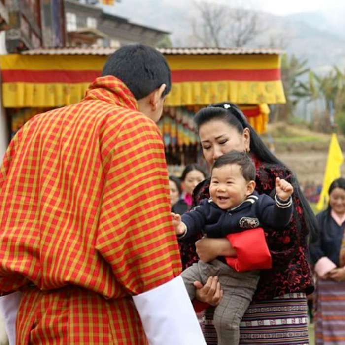 <p>His Royal Highness Gyalsey Jigme Namgyel smiled in the arms of his grandmother, Her Majesty Gyalyum Tshering Yangdon. The royal tot visited his grandmother's ancestral paternal home in Tangsibji.</p>