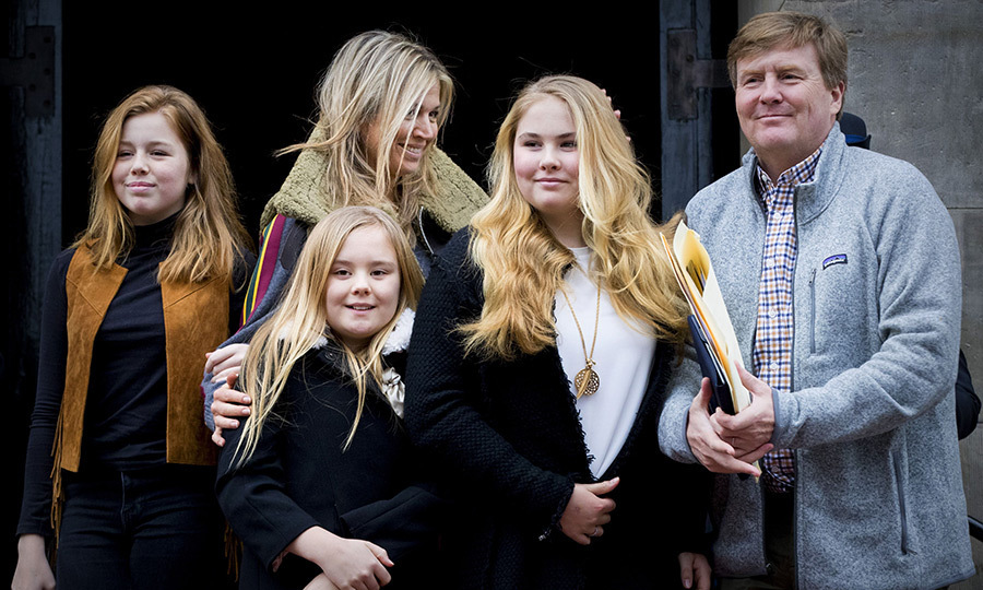 King Willem-Alexander and Queen Maxima of the Netherlands stepped out with their daughters Amalia, Alexia and Ariane to attend the 80th birthday of the girls' grandmother, Princess Beatrix, on February 3, in Amsterdam. 
