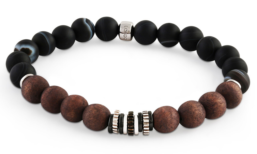 "<p><strong>Tateossian London Stone Bead Bracelet</strong>, $280, <a href=""http://harryrosen.com"" target=""_blank""><em>harryrosen.com</em></a></p>"