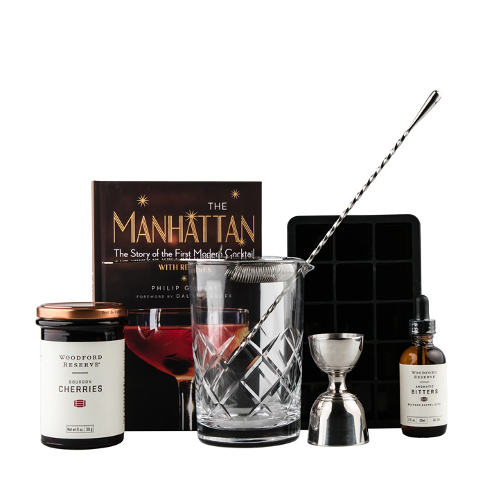 "<p><strong>Cocktail Emporium Manhattan Lovers Gift Set</strong>, $169, <a href=""http://cocktailemporium.com"" target=""_blank""><em>cocktailemporium.com</em></a></p>"
