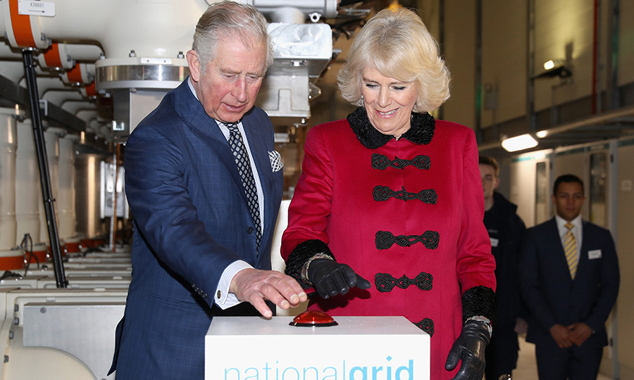 Prince Charles and Camilla, Duchess of Cornwall, helped open the National Grid's London Power Tunnels on Feb. 7.