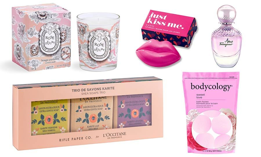 From lipstick to sponges and bath bombs, there's no shortage of heart-shaped goodies for the beauty fiend in your life this year. And if you're looking for something a little more subtle, try a rosy new scent or some luxe soaps. Click through to see our top bath and beauty gift picks for this Valentine's Day...