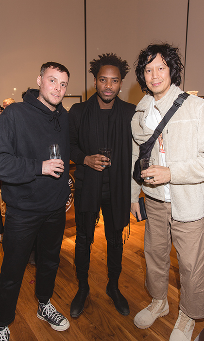<p>Nick Fox, Kofi Gyekye & Joe Amio</p>