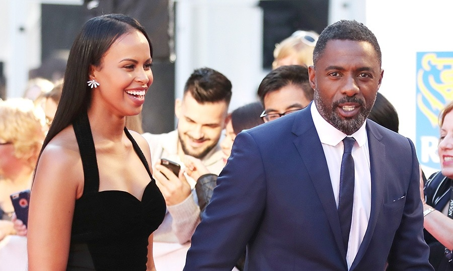 <h4>Idris Elba and Sabrina Dhowre</h4>