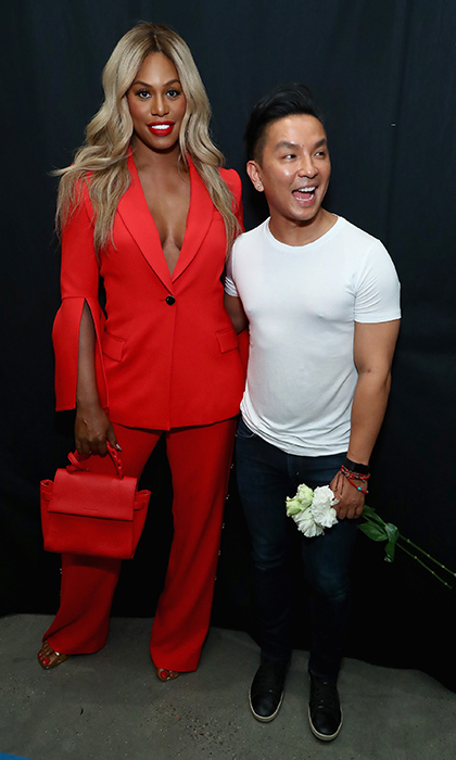 Laverne Cox is a style queen! She posed backstage with designer Prabal Gurung.