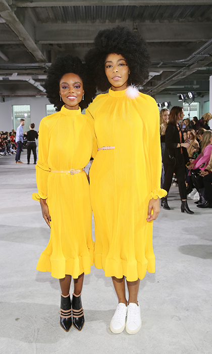 Actors Ashleigh Murray and Jessica Williams brought the sunshine in stunning yellow gowns while at the Tibi show in New York.