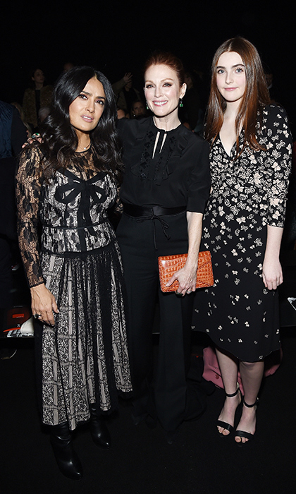 Salma Hayek, Julianne Moore and her daughter Liv looked gorgeous as ever while at the Bottega Veneta show.