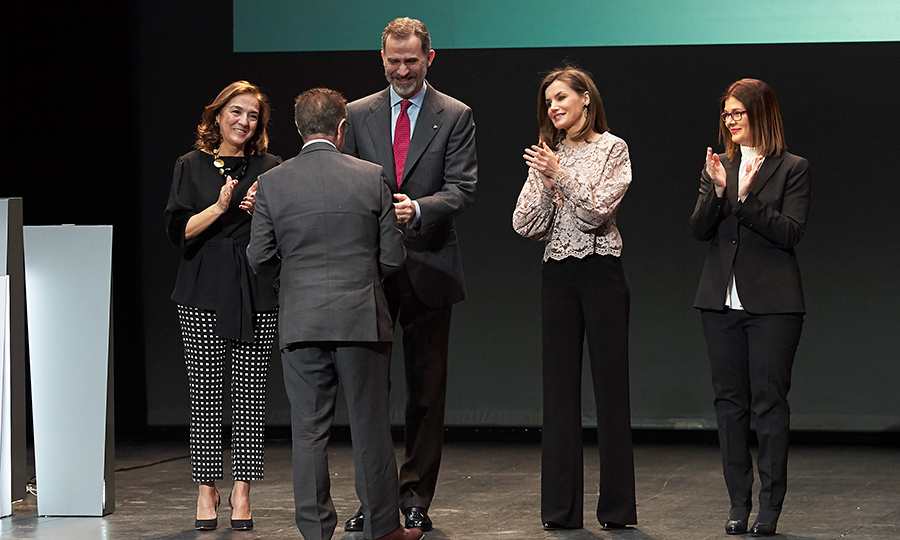 King Felipe VI of Spain and Queen Letizia of Spain attended the Innovation and Design awards 2017 at El Bosque Theater on Feb. 12.