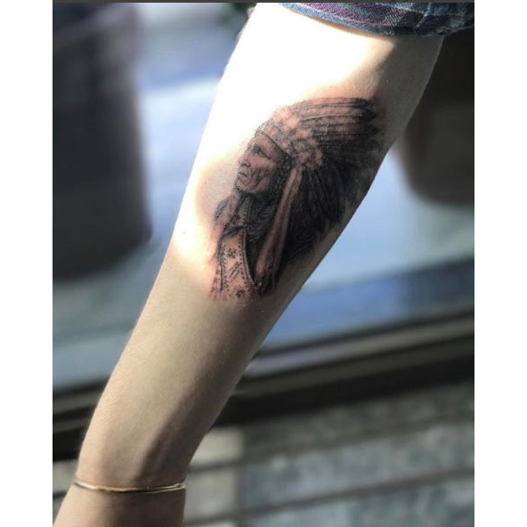 "<p>Brooklyn clearly takes inspiration from his father's collection of over 50 tattoos. In April 2017, he choose an image of a Native American chief for his first tattoo after coming of age. Posting a series of Instagram photos documenting the experience, he went along with his dad to Mark Mahoney, owner of the Shamrock Social Club tattoo shop in LA. He captioned one of the photos: ""Honoured to have my first tattoo done by dad's friend Mark Mahoney,"" adding, ""just like Dad's,"" in reference to David's matching Native American tattoo.</p>