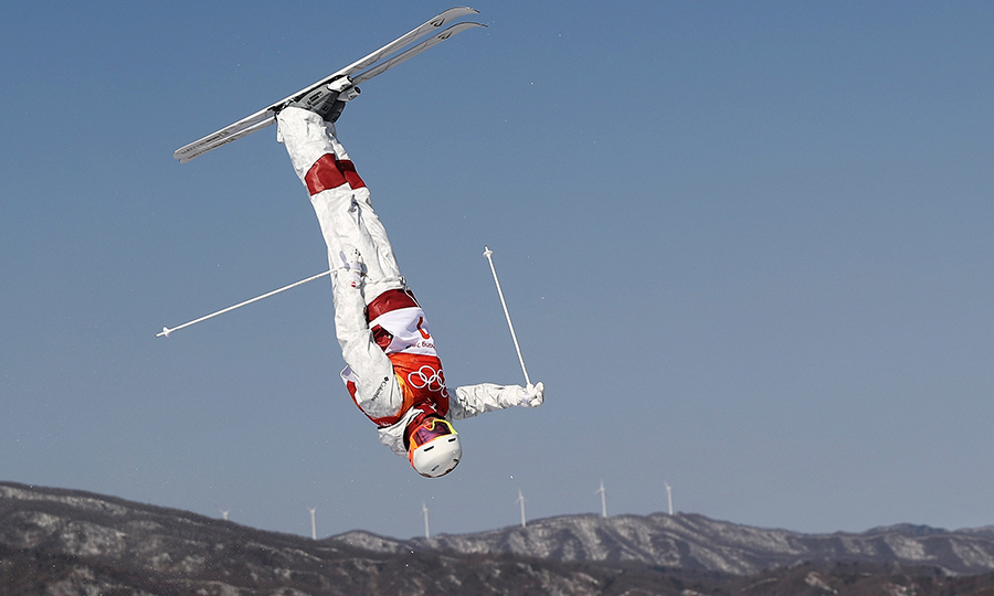 Mikael Kingsbury performed a daring flip and takes home the gold medal.