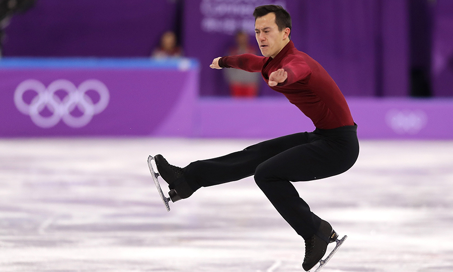 Patrick Chan spun on the tip of his skate, showing off his incredible talent.