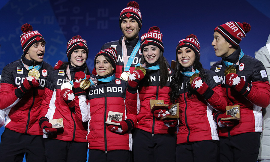 Team Canada held up their amazing wins!