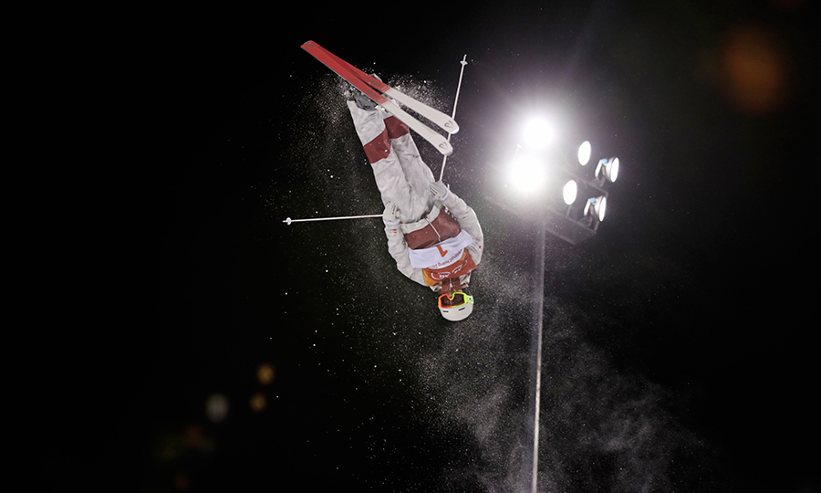 Mikael Kingsbury showed off some sweet tricks!