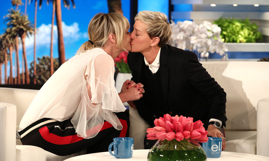 <h2>Ellen DeGeneres &amp; Portia de Rossi</h2>