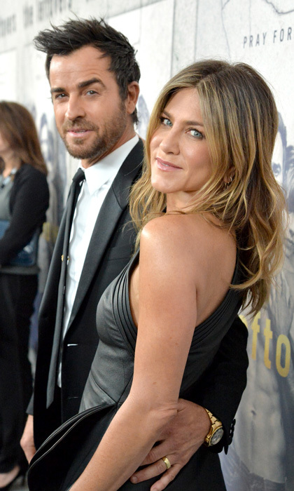 <h2>Justin Theroux &amp; Jennifer Aniston</h2>