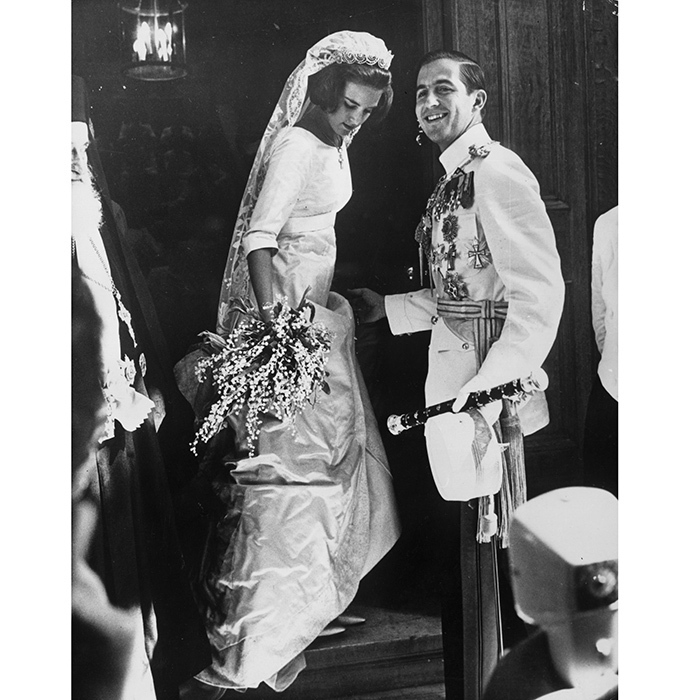 <h2>Ex-King Constantine and Queen Anne-Marie of Greece</h2>