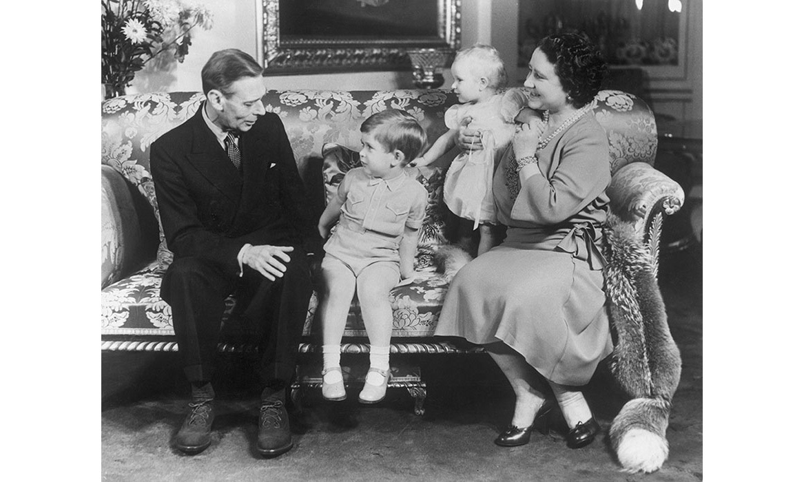 <p>When Prince Charles turned three, adorable portraits were released, including this one of the birthday boy, baby Princess Anne and their grandparents the Queen Mother and King George VI.</p>