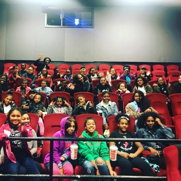 "Serena Williams joined the rank of celebrities providing free screenings of the new Marvel movie <em>Black Panther</em>! ""Last night we surprised a group of girls from @blackgirlscode to watch black panther with me in a private screening,"" Serena wrote on her Instagram, along with a photo of some of the elated moviegoers. ""We loved the movie and had a awesome time! @alexisohanian thanks!!"" 
