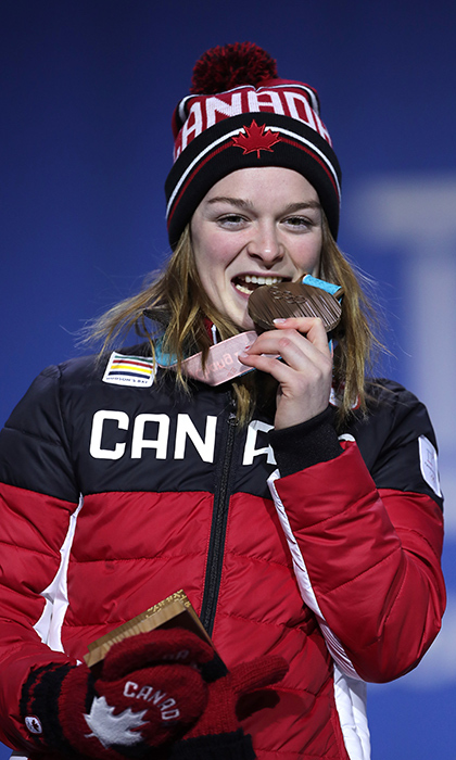 Quebec's Kim Boutin won her second bronze medal for short track skating!
