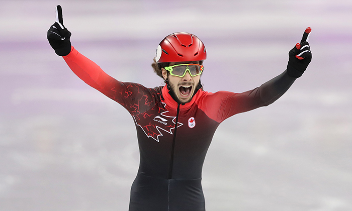 Number one! Samuel Girard spent the day preparing with fellow Canadian and veteran star Charles Hamelin, but it was the first-timer who came out on top.