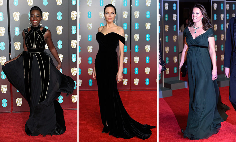 The BAFTAs 2018 is always a glamorous affair with nominees and winners gracing the red carpet in a plethora of stunning dresses that sparkle in the light. This year the dress code has a slight difference: in honour of the Time's Up Movement, actors and actresses are showing their support for the charity (which helps to prevent sexual harassment in the workplace) by wearing black attire. This is one of many high-profile events that have honoured this movement – which started in January at the Golden Globes. Click through to see how stars like Lupita Nyong'o, Angelina Jolie and even the Duchess of Cambridge dressed for the occasion...