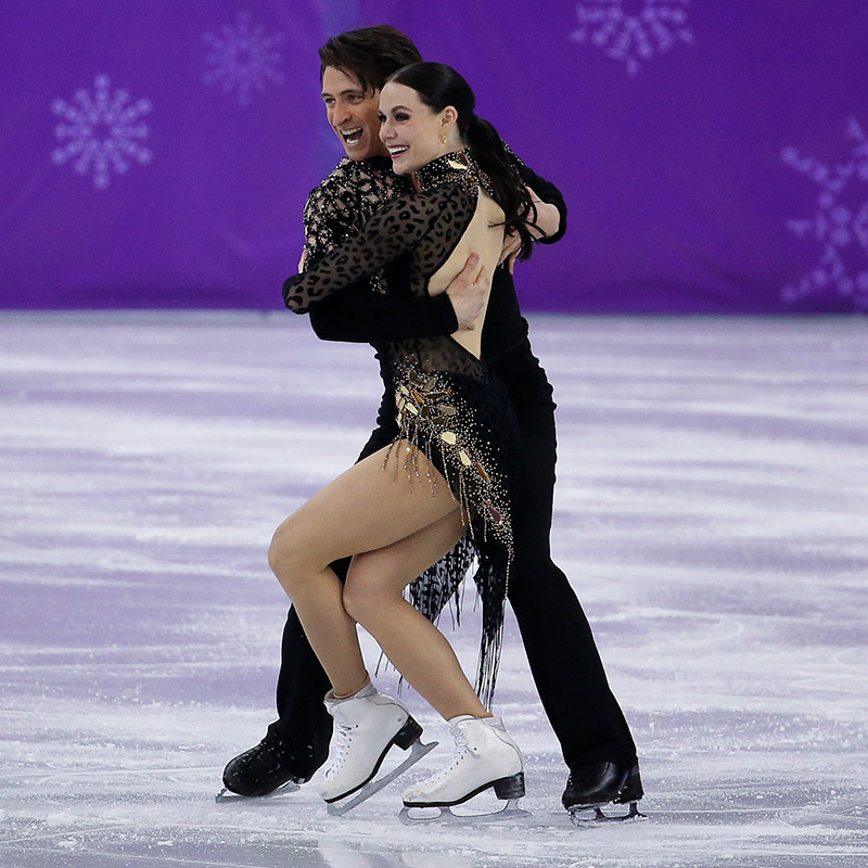 Tessa and Scott were all smiles as they moved one step closer to their second gold medal of 2018 in Pyeongchang. 