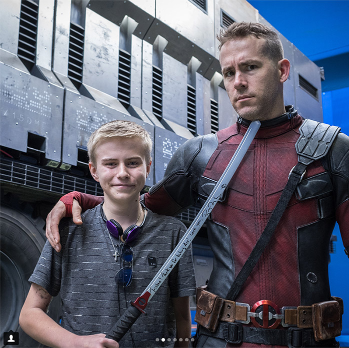 "Ryan Reynolds couldn't hold back his excitement over meeting young fans on the set of <em>Deadpool</em>. The Canadian star and father of two took to Instagram to share a gallery of photos and the sweetest caption: ""One of the best parts of playing the Big Red Jackass is welcoming @makeawishamerica and @childrenswishfoundation onto set. Deadpool kicked Cancer in the taint, but these kids do it for real every day. These foundations make dreams come true for a lot of of super-brave kids. They also make dreams come true for parents, who just wanna see their kid smile. HUGE thanks to our Prop Master, Dan Sissons, for making sure every kid left with his/her own sword. (Bamboo versions. Not stabby-stabby versions.) """